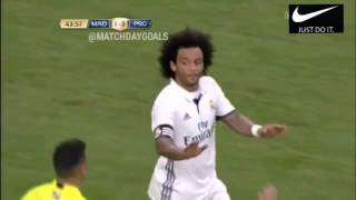 Marcelo penalty 45' , Rela Madrid 1 : 3 PSG 28/7/2016