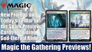 MTG War of the Spark Previews: 12 Cards Including God-Eternal Rhonas and God-Eternal Bontu