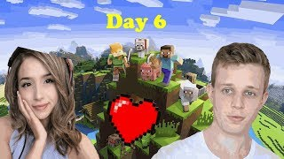Fitz And Pokimane Plays Minecraft Together Day 6