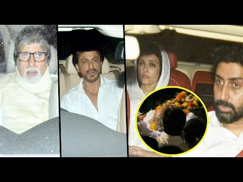 Uncut: Shah Rukh Khan, Bachchan Family And Others At Aishwarya Rai Bachchan's Father Funeral
