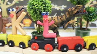Coco Train LEARNING LETTER L - Clay & Play Doh Cartoons For Kids