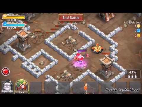 Santa Boom In Action ( Castle Clash )