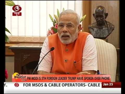 U.S. President Donald Trump speaks with PM Modi over phone