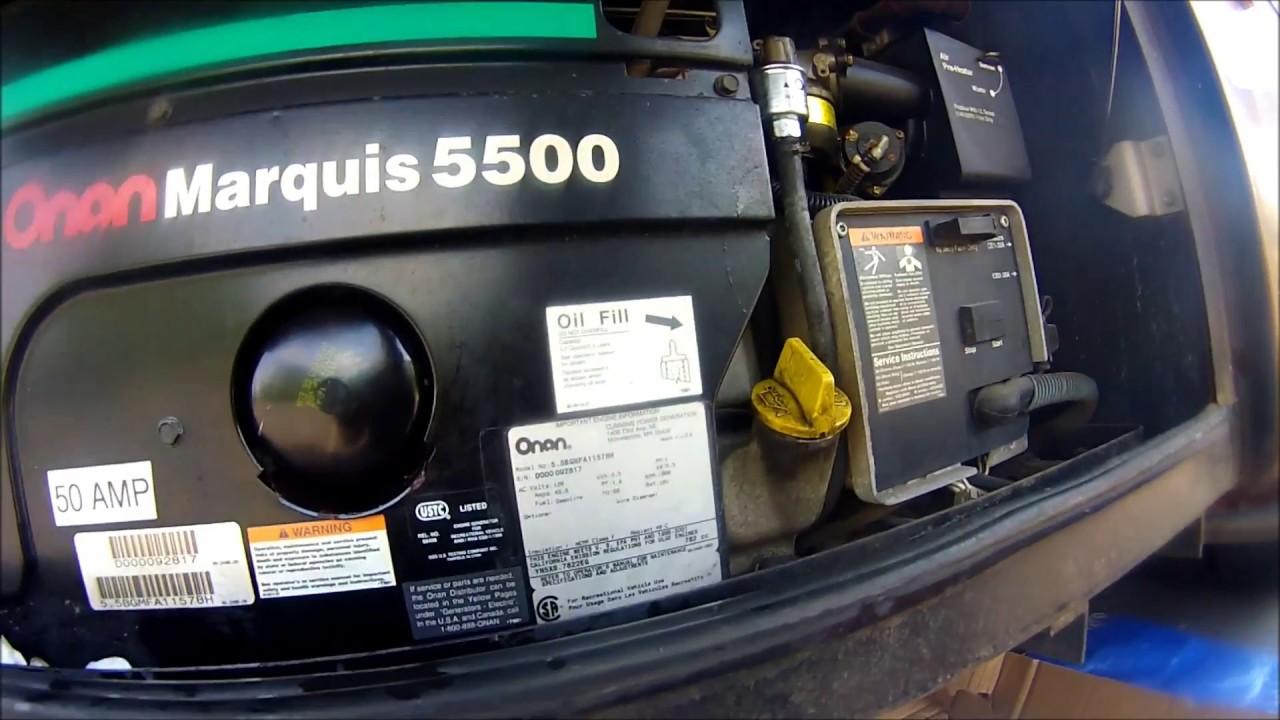 BGM Onan RV Generator 5500 Oil Change