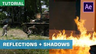 VFX البرنامج التعليمي - كيفية إنشاء الانعكاسات والظلال في After Effects | ActionVFX نصائح سريعة