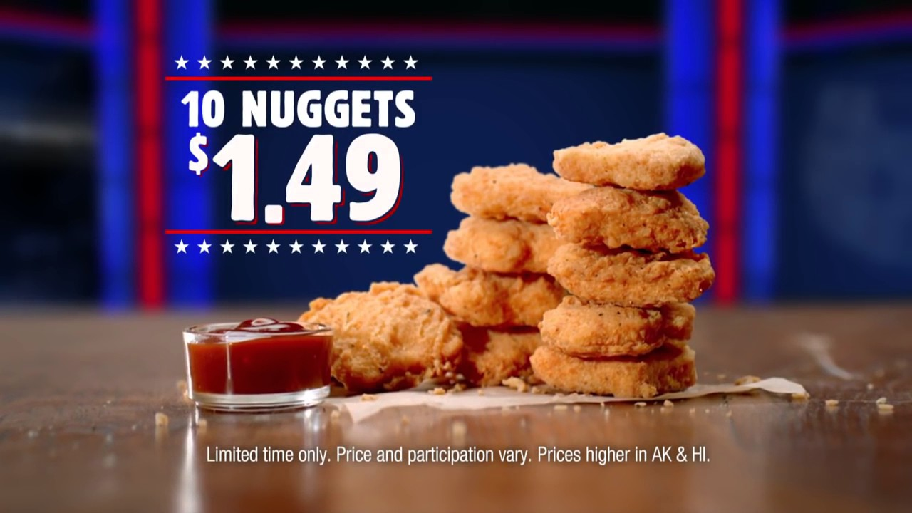 Burger King Commercial 2016 Nuggets 1 49 10 Pc
