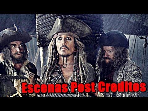 Piratas Del Caribe: 1,2,3,4 Escenas Después De Los Créditos  | Post-Creditos