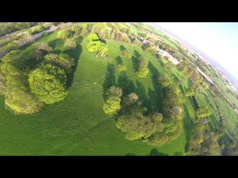 FPV practice with emax 200 quadcopter racing drone, cleanflight acro, gopro hero4 session