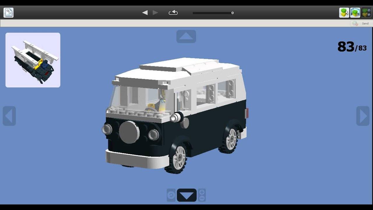 vw bus bay window lego youtube. Black Bedroom Furniture Sets. Home Design Ideas