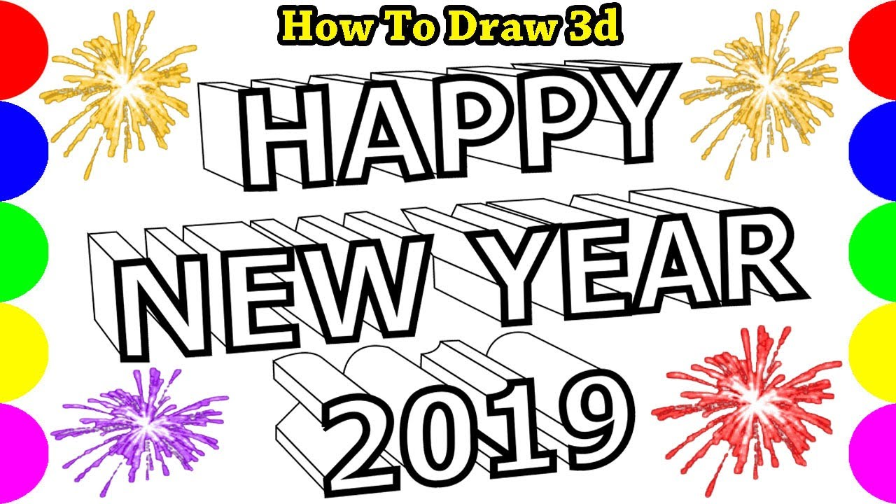 Picture Happy New Year Drawing Pictures | Easy Images ...