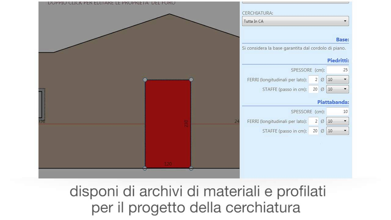 Cerchiatura Muro Portante Veloce E Professionale   ACCA Software   YouTube