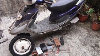 Home Made Self Charging Hybrid Scooty Part 1