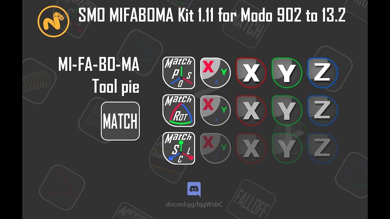 SMO MIFABOMA Kit - v1 11 - for Modo 902 to 13 2 - /2019-11