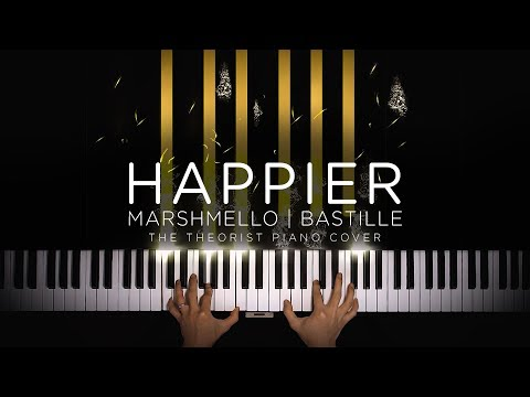 Marshmello ft Bastille - Happier  The Theorist Piano Cover