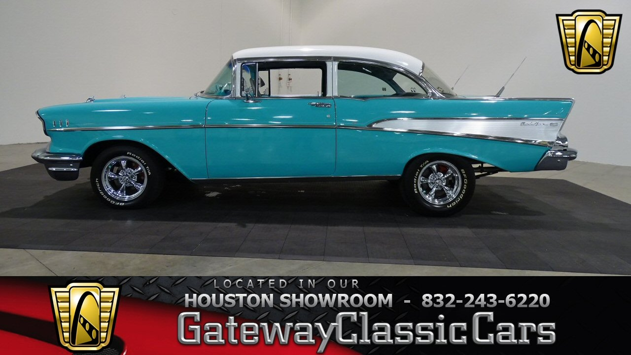 1957 chevrolet bel air gateway classic cars 636 houston showroom youtube. Black Bedroom Furniture Sets. Home Design Ideas