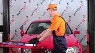rear and front Wiper blades installation VW GOLF: video manual