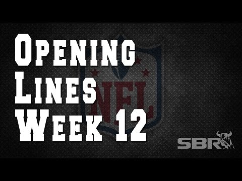 Week 12 NFL Opening Lines with Sportsbook Review