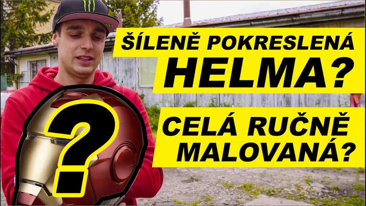 Šíleně pokreslená helma! | Celá ručně malovaná?