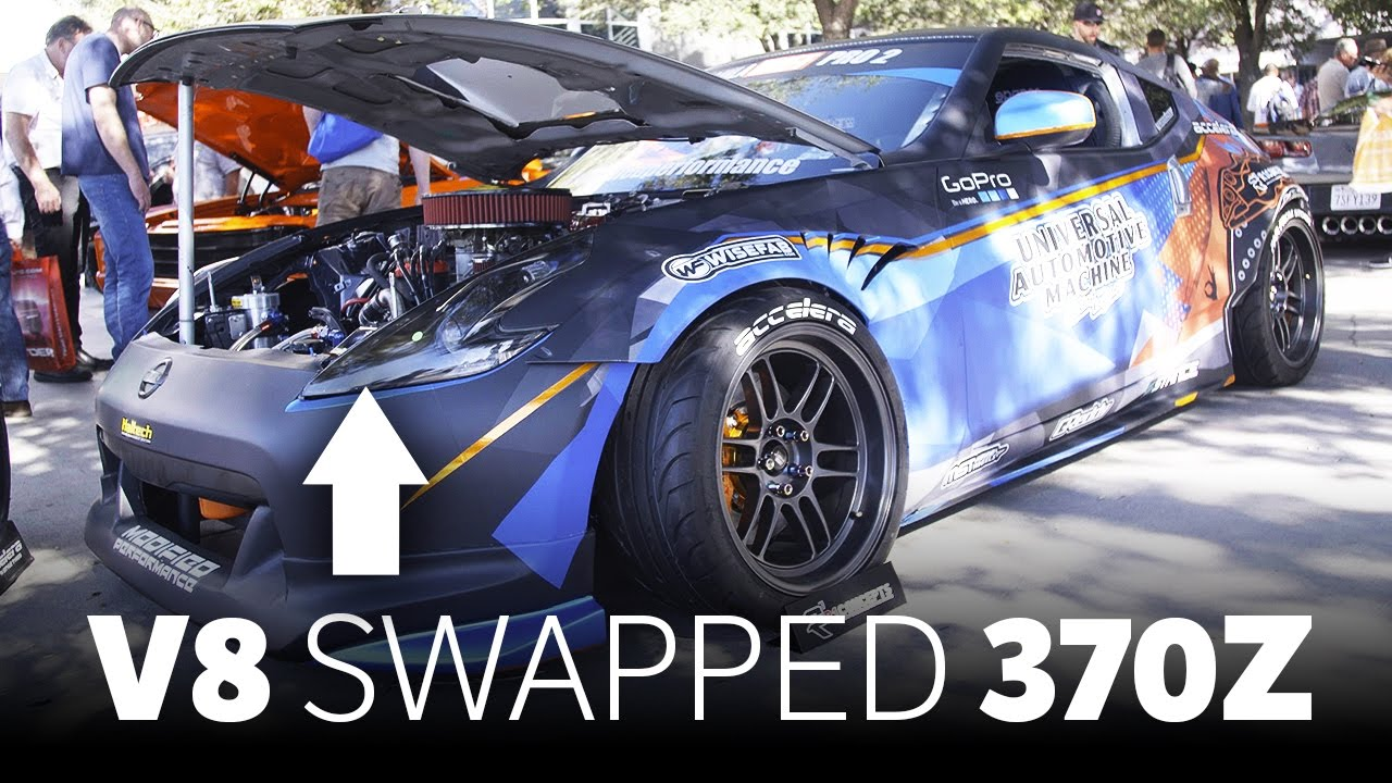 this nascar v8-swapped 370z is the coolest drift car at sema - youtube