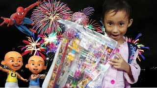 Review Mainan Anak Murah Lotre Kembang Api, Upin Ipin, Spiderman, Hello Kitty Da