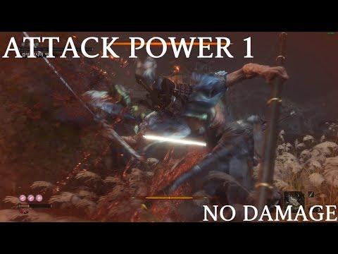Sekiro - Isshin, The Sword Saint [ATTACK POWER 1/BASE VITALITY] No Damage