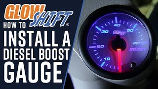 How To Install A Diesel Boost Gauge(GlowShift's 7 Color Series 60 PSI Boost Gauge is perfect for any diesel truck that runs high boost pressure, ensuring your turbo is performing at peak levels and ..., 2013-11-25T17:17:56.000Z)