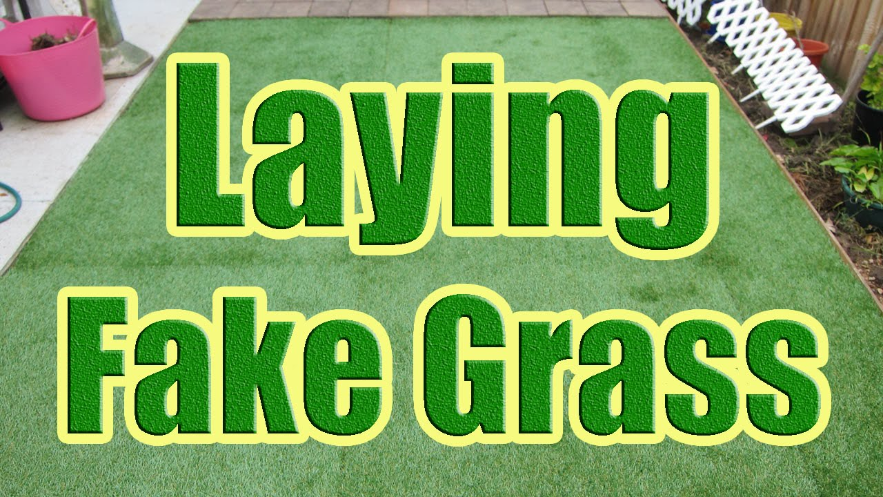 How to Install Fake Grass  How to Lay Synthetic Grass