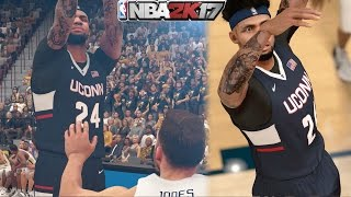 NBA 2k17 MyCAREER - 360 Dunk Over Defender! New Jumpshot + Dunk Packages! Ep. 3