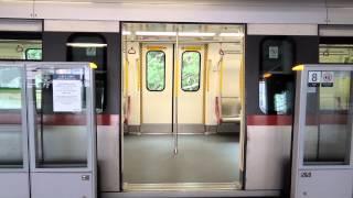 紅日中午出廠c車 港鐵 ktl c train a366 a365 駛入及駛離牛頭角站一台