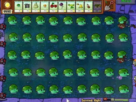 PERFECT HACK SEA-SHROOM POPCAP plants vs zombies - YouTube