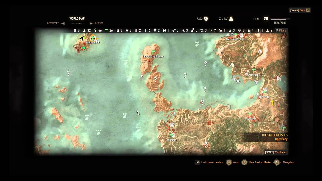Ursine Steel Sword Enhanced Location Witcher 3 Diagram - YouTube