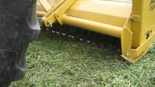 Mott Flail Mower up close blades.