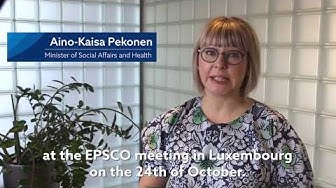 Minister Aino-Kaisa Pekonen and Minister Harakka before EPSCO Council in Luxembourg on 24 October
