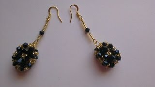 PENDIENTES NEGRO Y ORO -BLACK AND GOLD EARRINGS