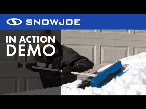 Snow Joe Telescoping Snow Broom with Ice Scraper