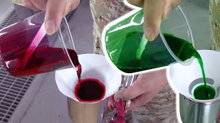 3 ways to paint candy red and candy green / candy color painting method / カスタムペイント