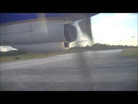 Taking off from Guam International Airport