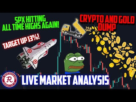 🔴 BITCOIN LIVE 🔴 Crypto and Gold Take A Hit! – Ep. 1086 – Crypto Technical Analysis