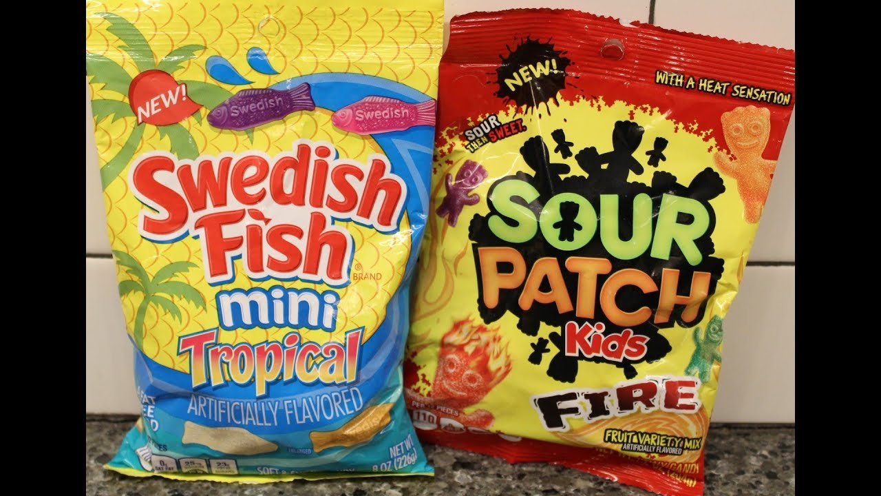 Swedish fish tropical and sour patch kids fire review for Sour swedish fish