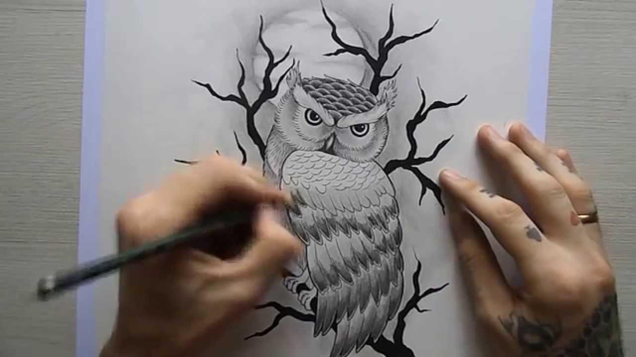 Desenho Coruja Tatuagem Youtube