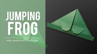 Origami Tutorial: Little Jumping Frog | Jump By Blowing