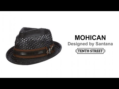 Santana Straw Fedora Vented Hat - MOHICAN. Tenth Street Hats 6809959d3186