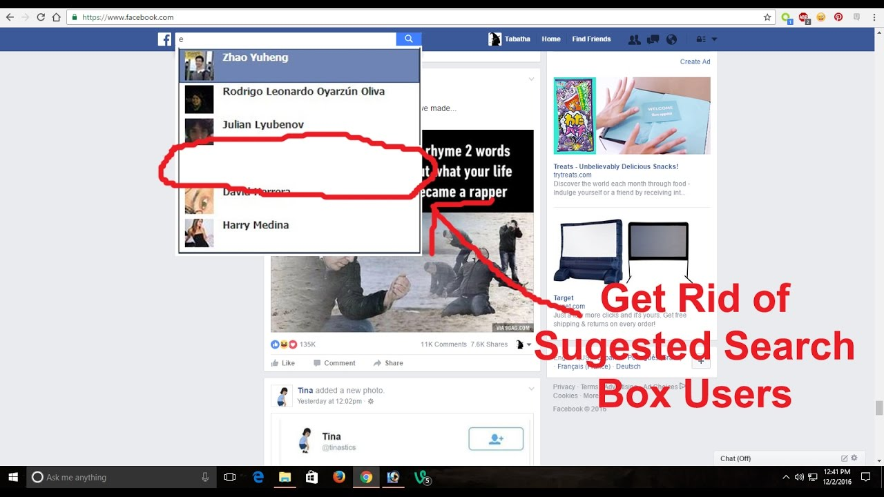 How To Remove Facebook Search Box Suggestions Permanently!