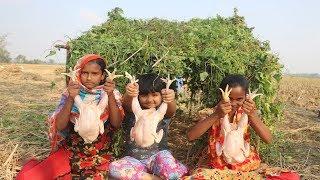Kids Picnic   Chicken Cooking By 5 To 11 Years Children MUST WATCH! Amazing Village Children Picnic