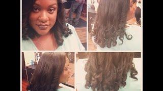 Vlog# 3  My Wash, Press, and Cut @ Genesis Salon and Spa