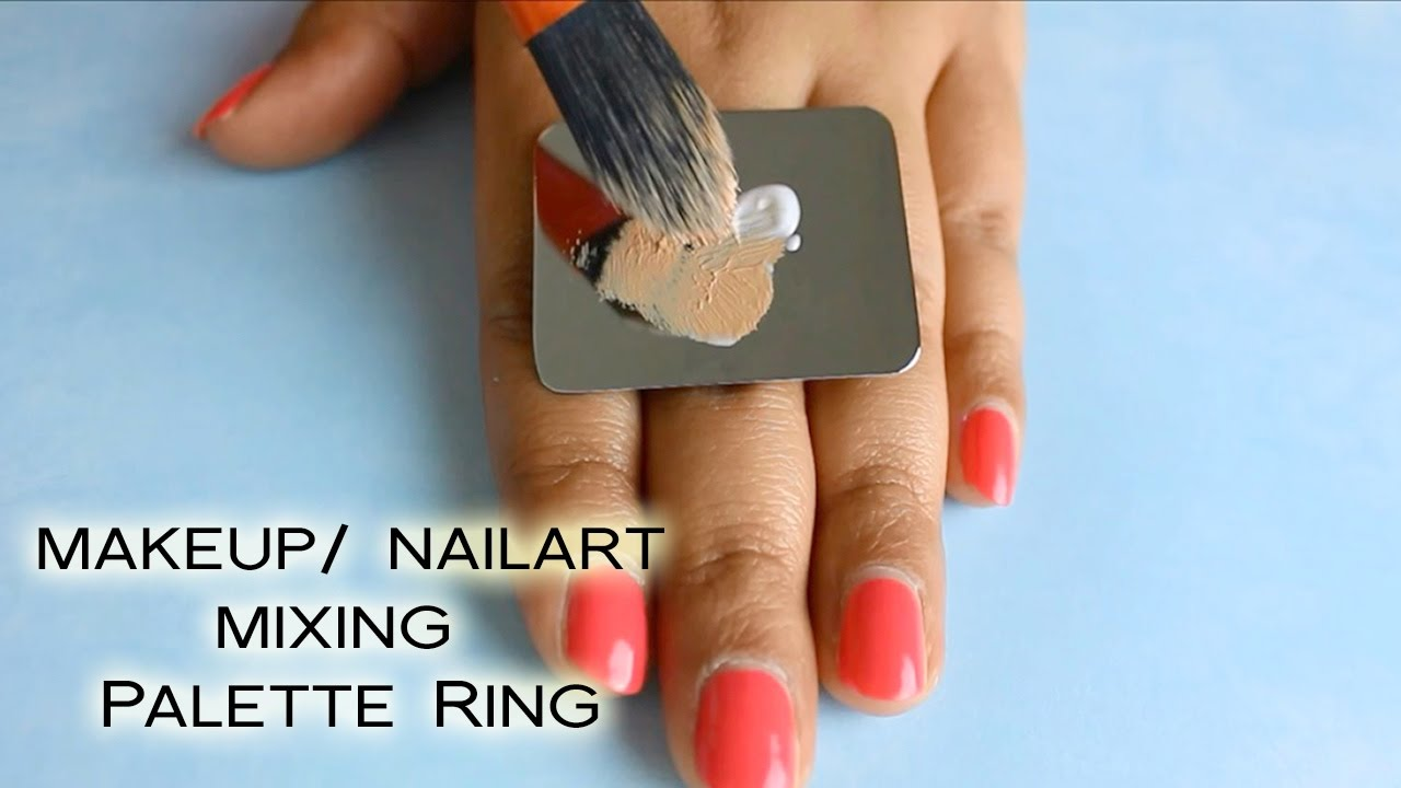 Review & Demo : Makeup/Nail Art Mixing Palette Ring (Ft. EnjoyOurs ...