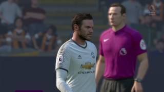 FIFA 17 - Manchester United Vs. Hull City - Zlatan Ibhrahimovic, Juan Mata & Paul Pogba - 3 Goals | Scott Cunningham