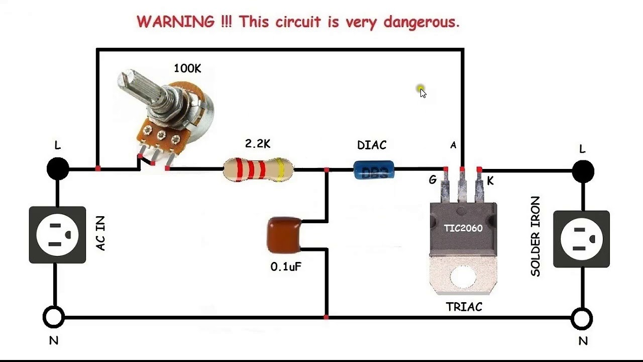AC motor speed control circuit how to make single phase