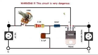 AC motor speed control circuit. كيفية جعل مرحلة واحدة التحكم في سرعة موتور كهربائى