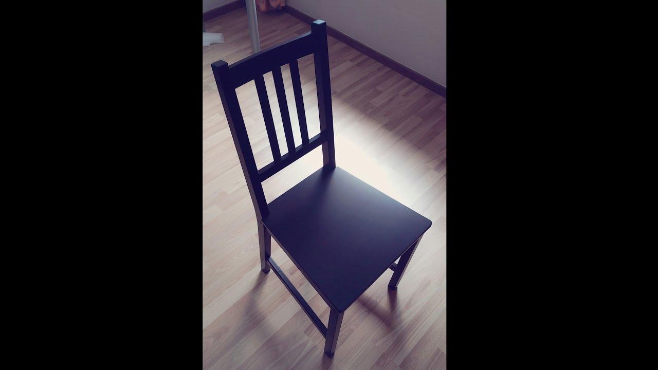 Ikea Eetkamerstoel Stefan.Ikea Stefan Chair Self Installation Time Lapse Youtube